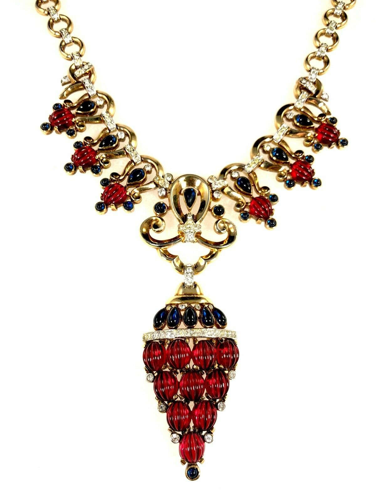 Scheherazade Necklace Pendant by TRIFARI dated 1949 for post: Collecting Vintage Vintage Trifari Jewelry